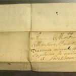 Lettre de Martin Larralde, sieur de Bastidaguerre à Mr Saint Martin de Duronia Mirande
